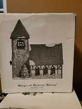 Dept 56 Dickens Village Shops of Dickens Village Church Rare With Box And Light