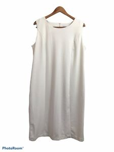 Serengeti Women's Off White Ivory Sleeveless A Line Dress Size Large Stretch
