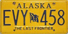Alaska  License Plate,  Original Nummernschild  EVY 458   ORIGINALBILD