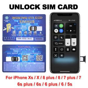 Unlock Chip Unlock Turbo Sim Card For Apple iPhone 12/11/XR/8/8 Plus/7/6S Plus