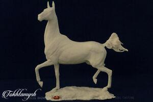 Classic Size Unpainted Artist Resin Akhal Teke, TOKHTAMYSH