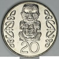 New Zealand 2005 20 cents UNC Coin Mintage under 178,000!!! Scarce