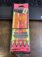 VTG NOS Empire Berol Blazing Writers ~ NEON PINK ORANGE YELLOW ~ Made In USA