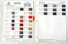 1983 PORSCHE DUPONT  COLOR PAINT CHIP CHART ALL MODELS ORIGINAL