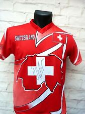 Maillot REPLICA Suisse signed signé STEPHAN LICHTSTEINER foot ultras