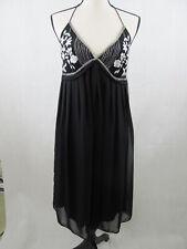 Eva Blue Womens Sleeveless Evening Dress Size 10 Color Black Straps Cocktail New