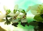 Pendientes Cereza MINT COLORES Claro Verde Esmaltado bañado en oro Cherry