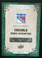 2020-21 UD RC Pre-Order Emerald Rookie Redemption Artifacts K'Andre Miller #99