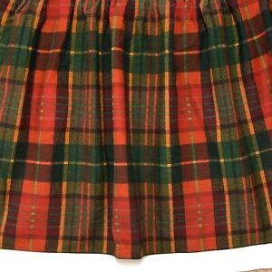 Vtg Thomasville MELROSE Twin Bedskirt Ruffle Tartan Plaid Christmas Farmhouse
