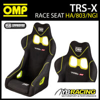 HA/803/NGI OMP TRS-X RACE BUCKET SEAT BLACK/YELLOW FIA 8855-1999 APPROVED