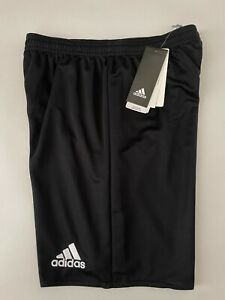 ADIDAS Climalite Black Shorts Youth 2XS NEW in Package w/Tags PARMA16 (AJ5892)