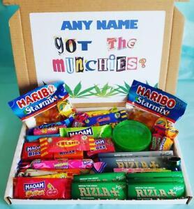 Munchies Box Chocolate Sweets Ganja Weed Stoner Novelty Gift Rizla 420 Cannabis