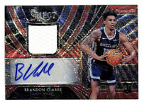 2019-20 Panini Select Brandon Clarke auto jersey rookie red wave card Grizzlies