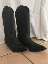 Vintage Wild Pair 80's Black Leather Western Boots 6.5 6 1/2B