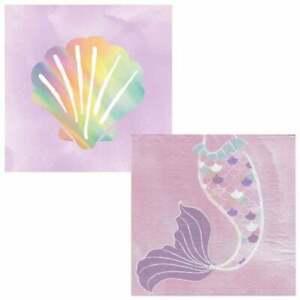 Mermaid Party Napkin/Serviettes 20pk 2ply - Mermaid Tail Party Supplies