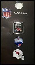 Arizona Cardinals NFL International Series 2017 London Games 3 Pin Pack Set