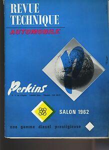 (C1)REVUE TECHNIQUE AUTOMOBILE Spécial SALON 1962