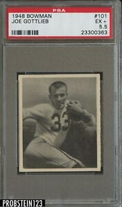 1948 Bowman Football #101 Joe Gottlieb Pittsburgh Steelers PSA 5.5 EX+
