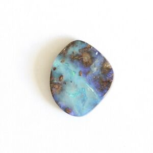 Boulder opal 4.32ct 14 x 12mm Australian opal natural solid loose unset stone