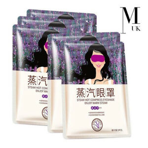 Lavender Steam EYE MASK Moisturizing Heated Therapy Relaxing Soothing Quality