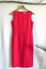 Zioshen Korean Designer Dress Red Sheath Sleeveless Slit Back Size XS