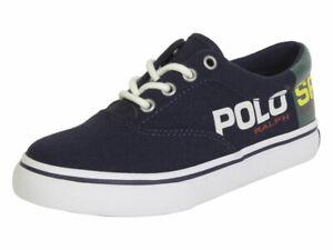 Polo Ralph Lauren Little/Big Boy's Thornton-II Navy/Green Sneakers Shoes