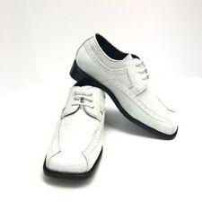 Bolano Infant Boys White  Dress Shoes Square Toe Sizes 6 - 8