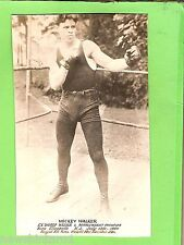 #L12.  BOXING FAN CARD - MICKEY WALKER, EX WORLD WELTER & MIDDLE WEIGHT CHAMPION