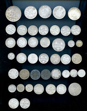 Amazing Bulk Lot of 43 Silver Canada and Newfoundland Coins 1874 - 1967  DCB843