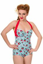 Dancing Days 50s Pinup Style Cherry Blindside Swimming Costume - Size XS