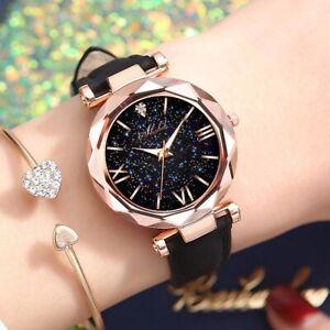 Luxury Stars Women Watch Luminous Charming Little Point Frosted Belt Watch