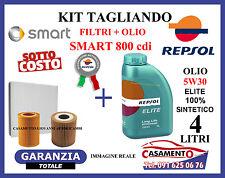 KIT TAGLIANDO FILTRI + OLIO REPSOL ELITE 5W30 4LT SMART 800 cdi