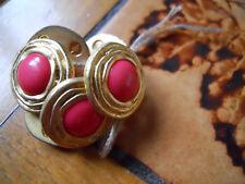 lot de 6 boutons roses et dorés