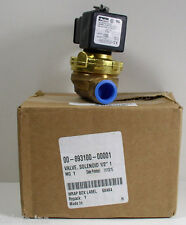 "Parker 00-893100-00001 Solenoid Valve 1/2"" 120V Coil For Hobart Dishwasher"