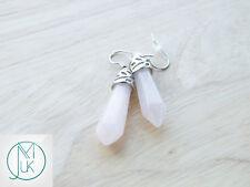 Rock Crystal Natural Gemstone Earrings Quartz Crystal Chakra Healing Stone Chakr