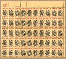 {BJ Stamps}  2010  Horatio Alger, Newpaper   MNH Sheet of 50.  Issued in 1982