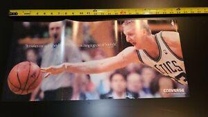 Vintage 1991 Larry Bird NBA Converse It Makes  Me Sick 23x11 Centerfold Poster