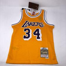 Shaquille Shaq O'Neal  #34 Los Angeles Lakers Jersey Gold Kids Size (5/6) Medium