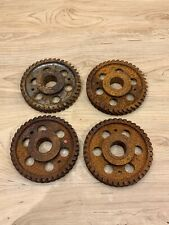 Rusty Industrial Machine Age Steel Lot 4 Gears/Cogs Steampunk Art Parts Lamp