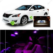 For Nissan Altima Sedan 2007-12 Pink LED Interior Kit + White License Light LED