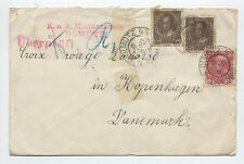 1916 Austrian WWI cover to red cross Denmark [y5375]