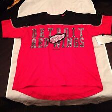 Detroit Red Wings NEW Youth Large Neutral Zone T-Shirt . NHL Hockey Reebok NWT