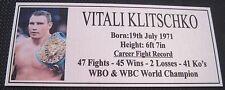 "VITALI KLITSCHKO  new Boxing Champions Gold  Subimated Plaque ""FREE POSTAGE"""