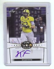 KYLIE FITTS - Chicago Bears / Utah Utes Football - 2013 Leaf Army AUTOGRAPH RC