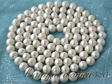 "z2453 NATURAL  50"" 12mm round white freshwater pearl necklace Z2453"