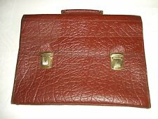 Vintage Tan Leather Briefcase / Attache Case / Document Case / Bag
