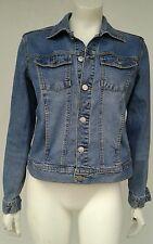 Womens Small Petite Sp Calvin Klein Ck Blue Jean Jacket Trucker All Categories