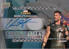 Thor Ragnarok, Chris Hemsworth 'Thor' Grandmasters Autograph Card GP-I #63/100