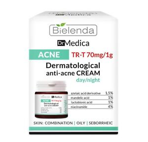 Bielenda Dr Medica Anti Acne Face Cream Oily Skin Moisturiser Matte Day Night UK