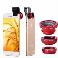 3 in1 Fisheye Wide-angle Lens for iphone 5 6 samsung Peixe Para Celular Lentes
